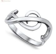 ZilverVoorJou Zilveren vioolsleutel muzieknoot ring