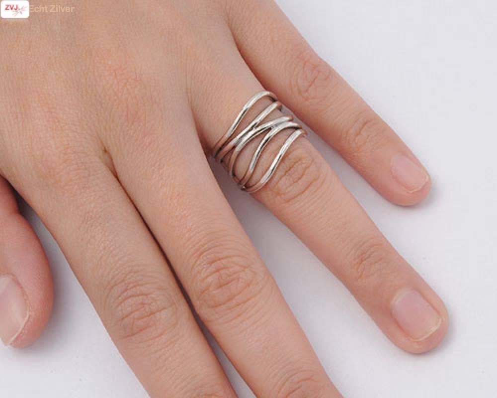 Zilveren sier draad  ring-2