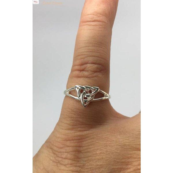 Zilveren fijne Keltische ring