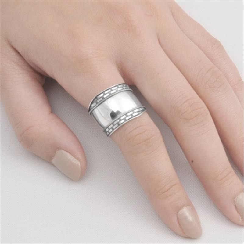 OUTLET Zilveren brede Keltische ring-2