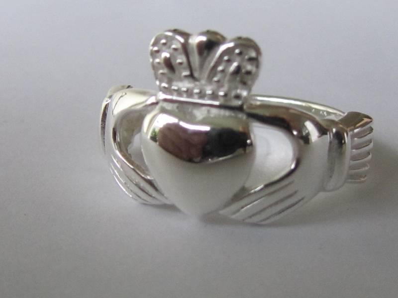 Zilveren keltische heren claddagh ring-2