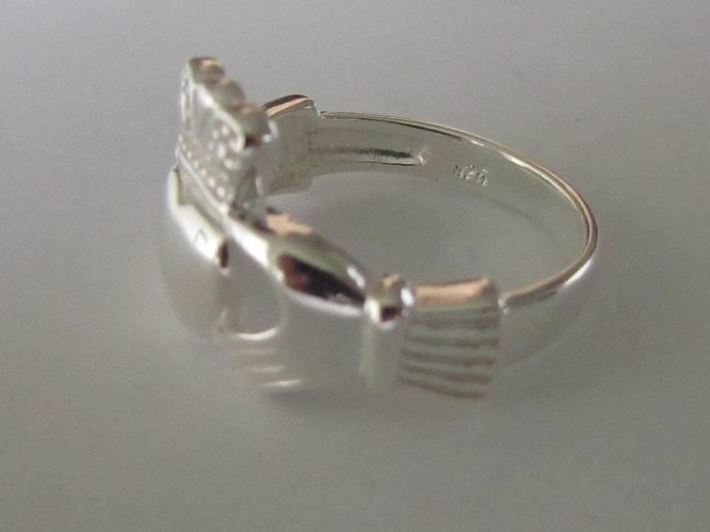 Zilveren keltische heren claddagh ring-3