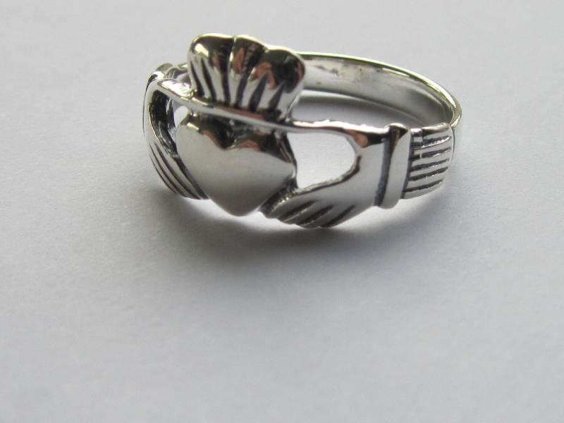 Zilveren 925 keltische claddagh ring-2