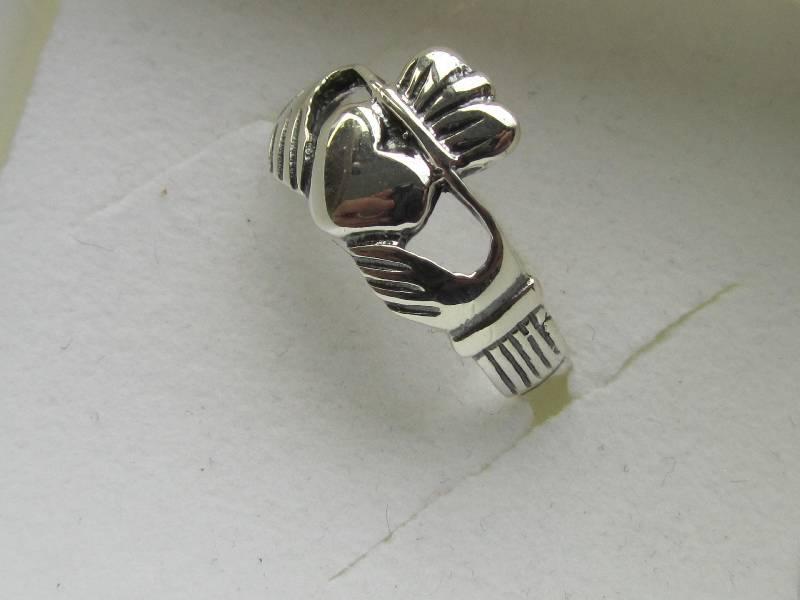 Zilveren 925 keltische claddagh ring-3