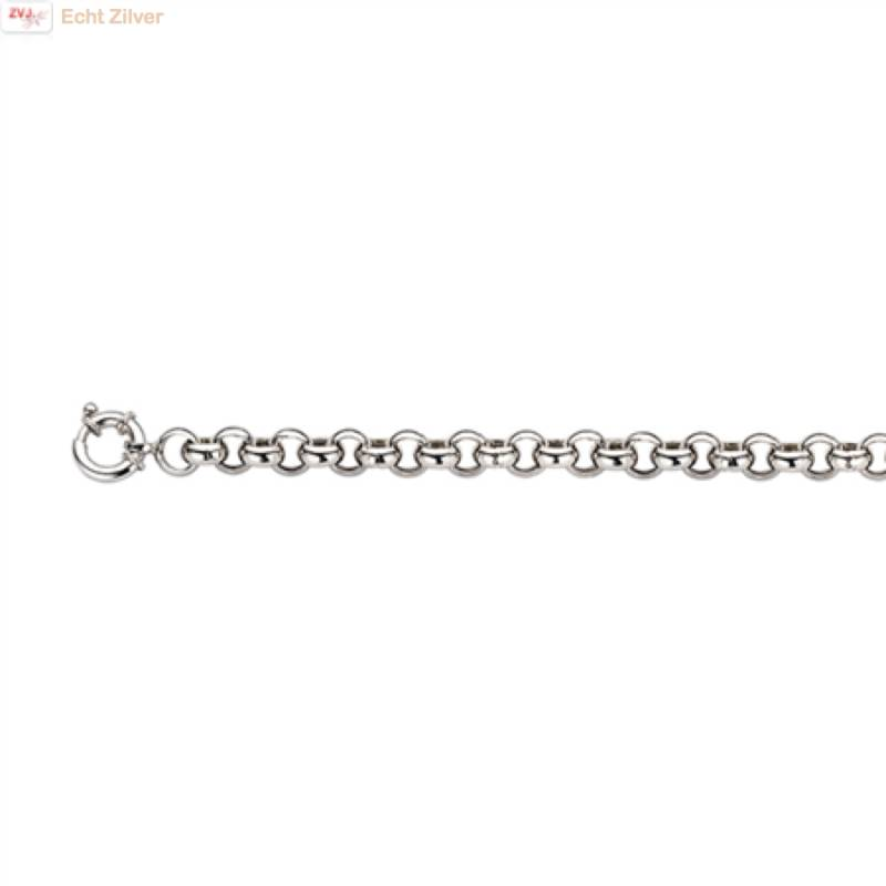Zilveren armband Jasseron  6 mm 20 cm rhodium New Bling-1