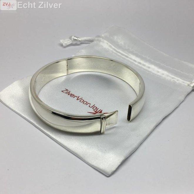 Zilveren ovale Slavenarmband 60x55 12mm breed