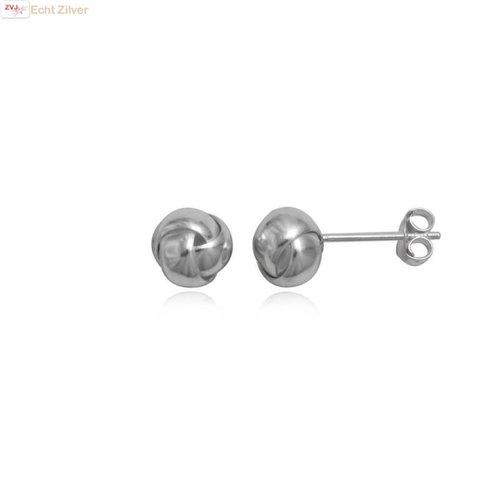 ZilverVoorJou Zilveren knoop oorstekers 7 mm