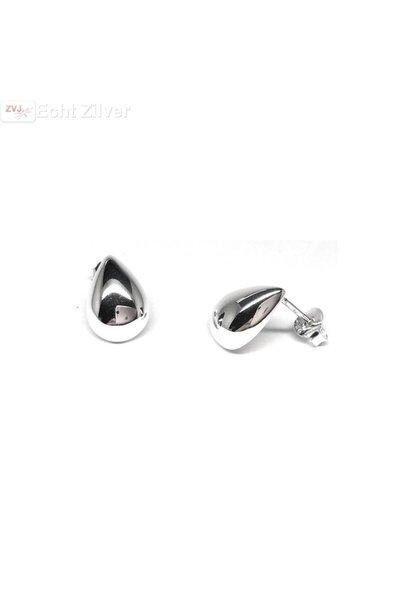 Zilveren druppel oorstekers