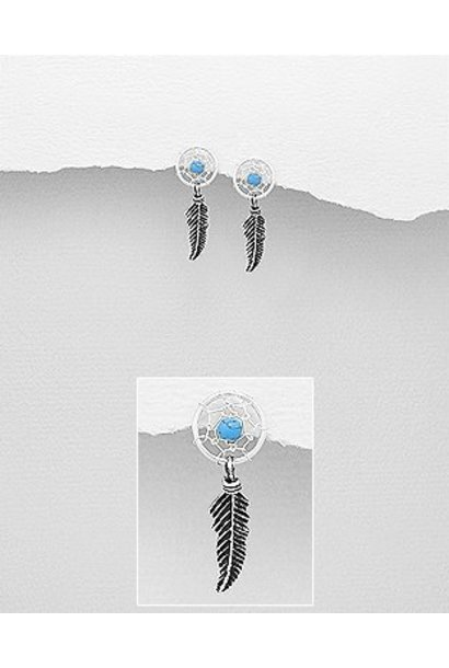 Zilveren dromenvanger oorstekers