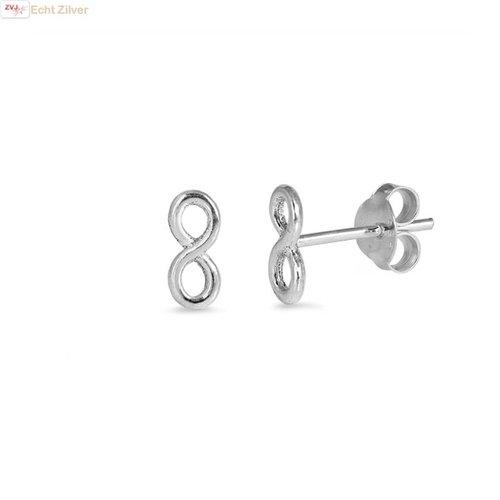 ZilverVoorJou Zilveren infinity oneindige oorstekers
