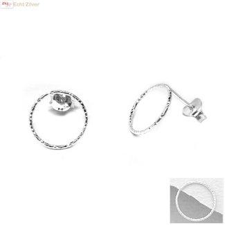 ZilverVoorJou Zilveren cirkel oorstekers oorbellen