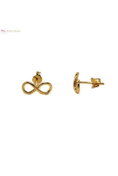 Goud op zilver infinity Lemniscaat oorstekers