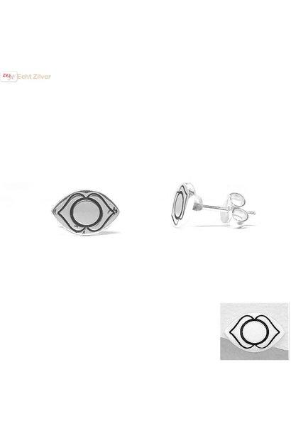Zilveren oorstekers voorhoofd of derde oog chakra