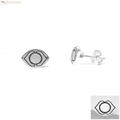 ZilverVoorJou Zilveren oorstekers voorhoofd of derde oog chakra