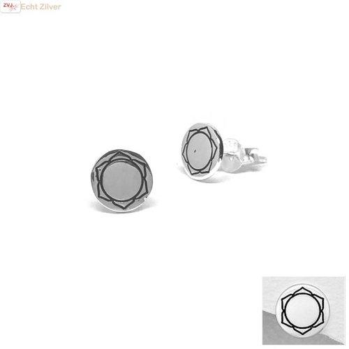 ZilverVoorJou Zilveren ronde oorstekers sacraal chakra