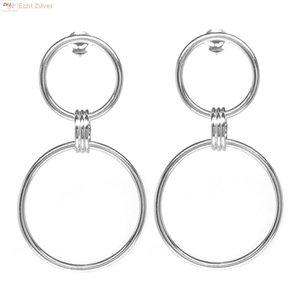 ZilverVoorJou Zilveren design oorstekers met 2 cirkels