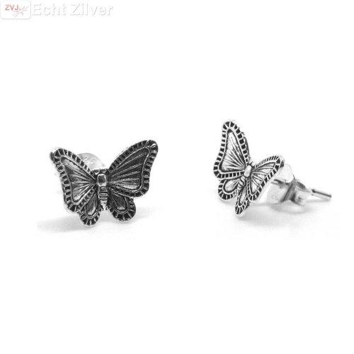 ZilverVoorJou Zilveren vlinder oorstekers