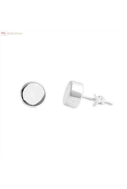 Zilveren stud oorstekers rondjes of cirkeltjes