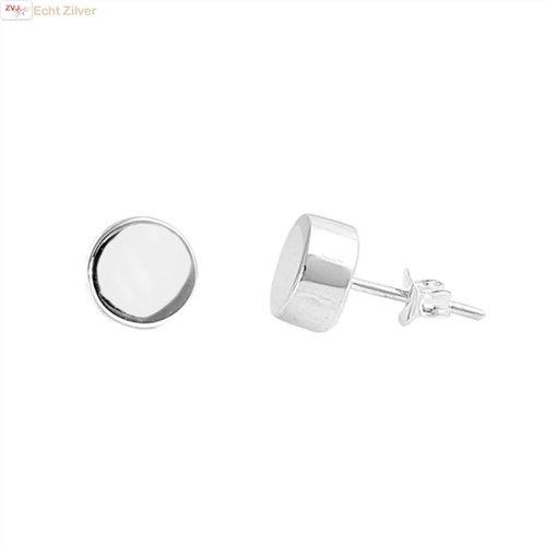 ZilverVoorJou Zilveren stud oorstekers rondjes of cirkeltjes