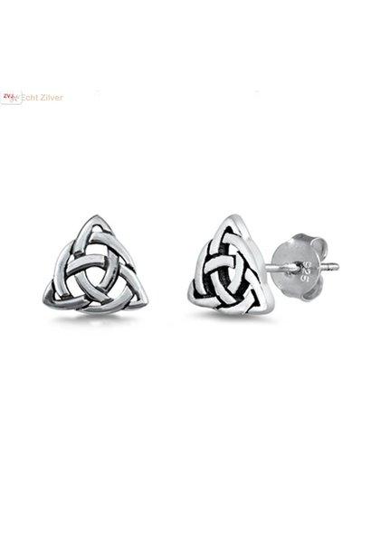 Ziveren keltische kleine driehoek oorstekers
