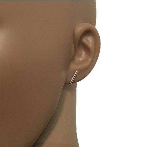 ZilverVoorJou Zilveren strakke staaf oorstekers