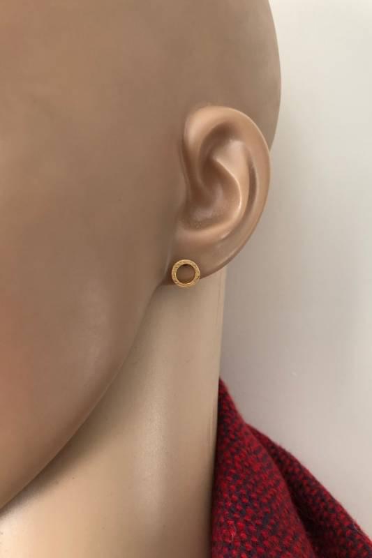 mat goud op zilver cirkel oorstekers-2