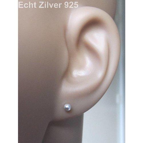 ZilverVoorJou Zilveren kleine oorknopjes 3 mm balletjes
