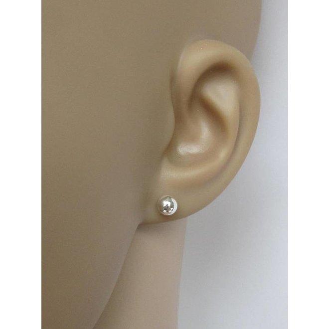 Zilveren kleine oorknopjes, stekers 5mm balletjes