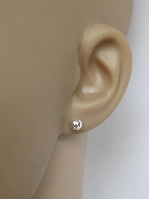Zilveren kleine oorknopjes, stekers 5mm balletjes-2