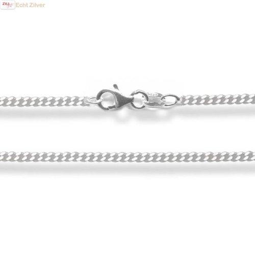 ZilverVoorJou Zilveren gourmet ketting 38 cm 1.5 mm breed