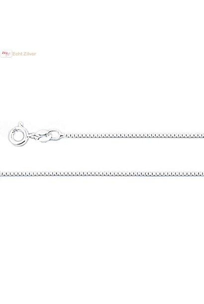 Zilveren box ketting 40 cm 1.1 mm breed