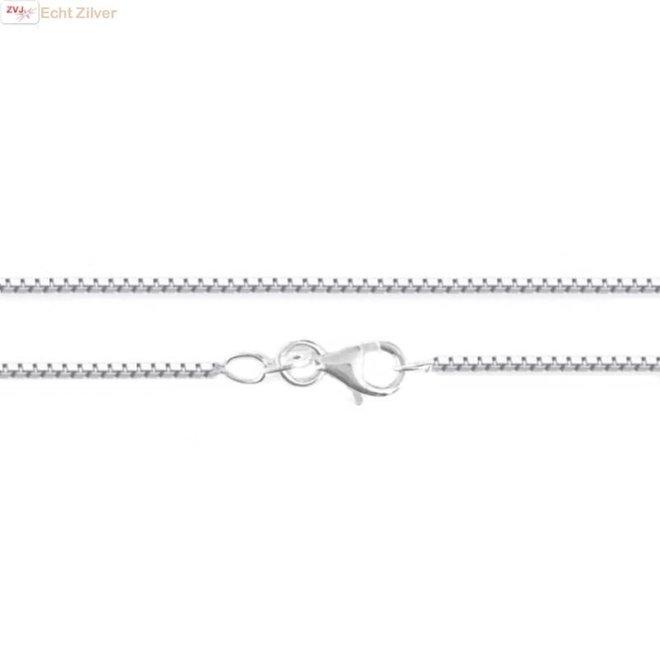 Zilveren box Venetiaan ketting 42 cm 1.2 mm