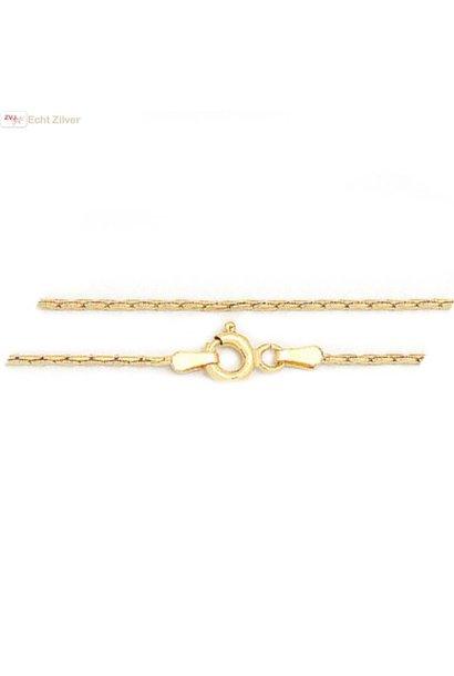 Zilveren 18k geel goud vergulde 42.5 cm Cardano ketting