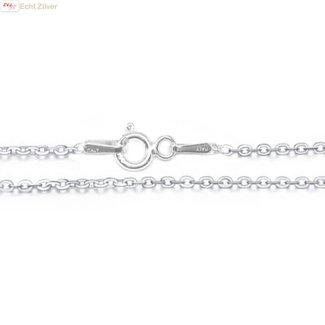 ZilverVoorJou Zilveren kabel ketting 42,5 cm 1.5 mm breed