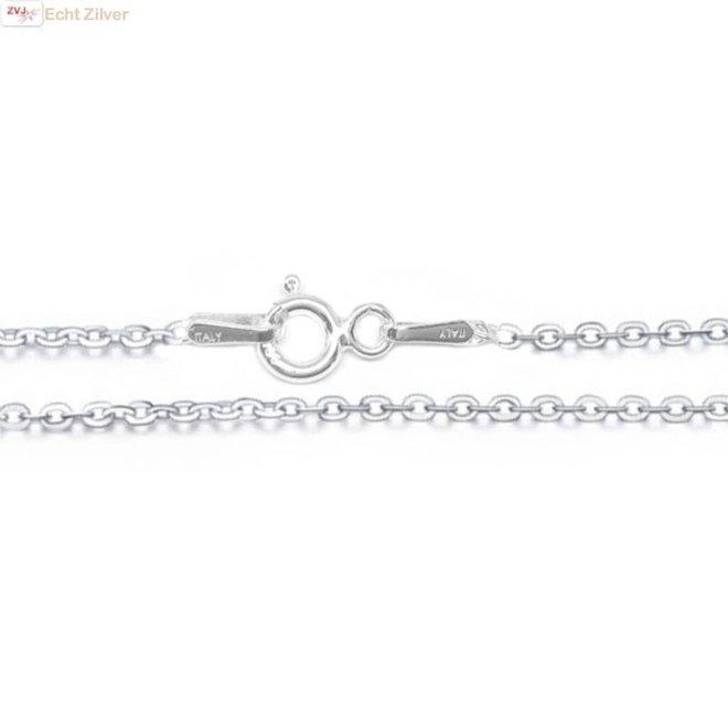 Zilveren kabel ketting 42,5 cm 1.5 mm breed