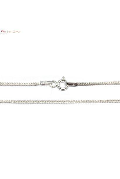 Zilveren lengte ketting 42,5 cm 1.1 mm