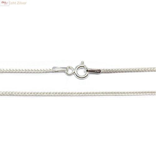 ZilverVoorJou Zilveren lengte ketting 42,5 cm 1.1 mm