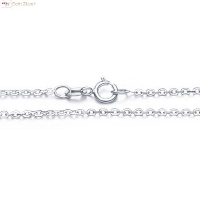 Zilveren kabel ketting chain 45 cm 1,4 mm breed