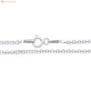 ZilverVoorJou Zilveren kabel ketting 45 cm 1.5 mm breed