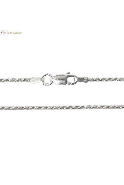 Zilveren rope ketting 45 cm 1.4 mm