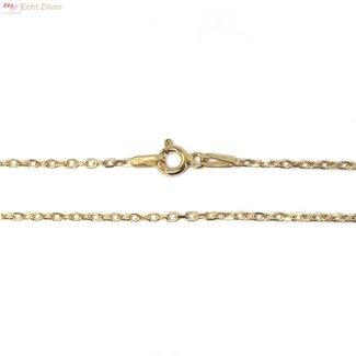 ZilverVoorJou Goud op zilver kabel ketting 45 cm 1 mm