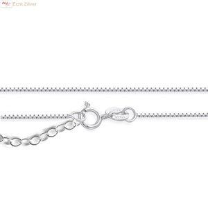 ZilverVoorJou Zilveren fijne verstelbare box ketting 40-45 cm