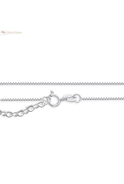 Zilveren fijne verstelbare box ketting 40-45 cm