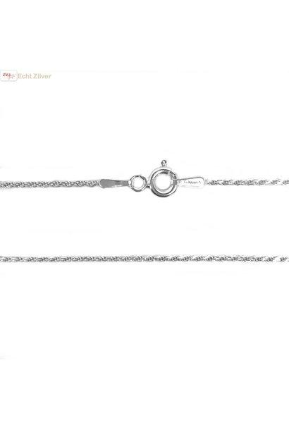 Zilveren rope ketting 45 cm 1.2 mm