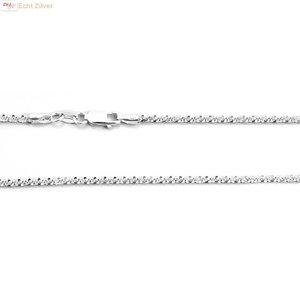ZilverVoorJou Zilveren sierlijk twist ketting 45 cm 2 mm