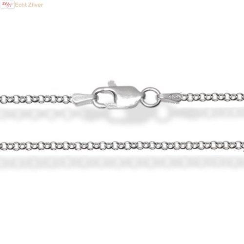 ZilverVoorJou Zilveren rolo jasseron ketting 50 cm 1.5 mm breed
