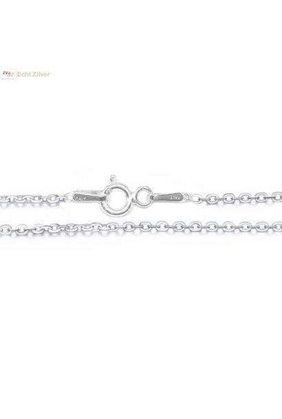 Zilveren kabel ketting 50 cm 1.5 mm breed
