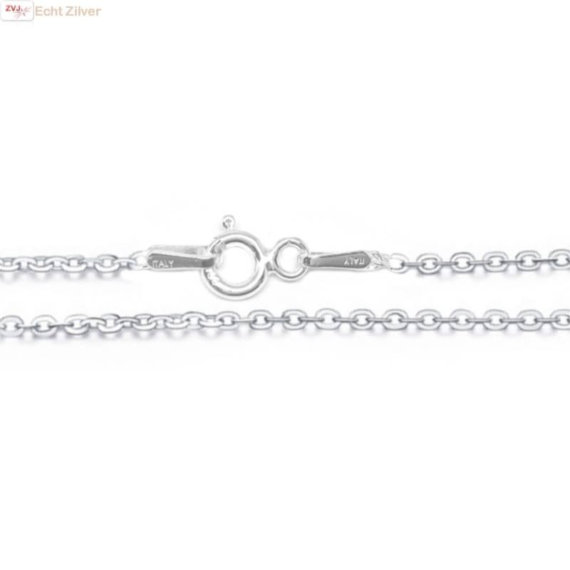 Zilveren kabel ketting 50 cm 1.5 mm breed-1