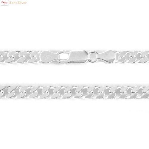 ZilverVoorJou Zilveren gourmet ketting 5 mm breed 50 cm lang