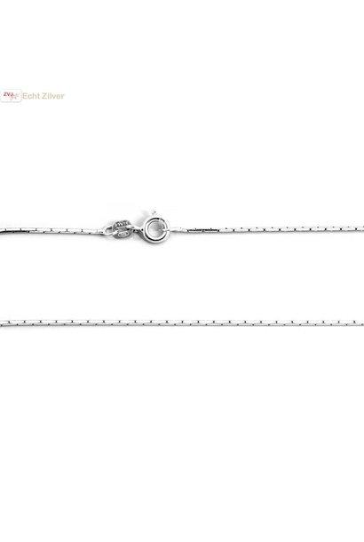 Zilveren cardano ketting 50 cm 1.1 mm